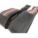 Rubberized knee wraps MASTER 2,5m with velcro